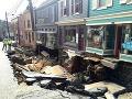 FOTO ničivej povodne v Marylande: Pustošila všetko, čo jej prišlo do cesty