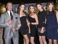 Sylvester Stallone s manželkou a dcérami.