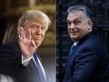 Trump telefonoval s Orbánom: Povzbudil ho aj k ochrane južných hraníc