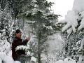 Bohatá nádielka snehu na Orave v roku 2008