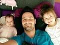 Peter Bažík je hrdým oteckom dvoch krásnych detí.