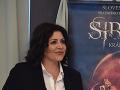 Ilona Cáková pri príležitosti predstavovania muzikálu Sibyla