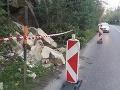 FOTO Mimoriadna situácia v Bratislave: Zosuv svahu, zasadol krízový štáb