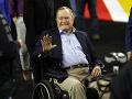 Na archívnej snímke z 2. apríla 2016 je exprezident USA George H. W. Bush.