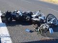 FOTO V Trnavskom kraji havarovali v pondelok dvaja motorkári: Obaja sa zranili