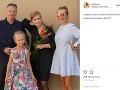Michaela Čobejová, jej manžel a dve dcéry.