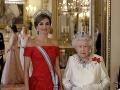 Kráľovná Letizia a kráľovná Alžbeta II.