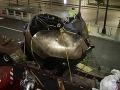 FOTO Poškodená bronzová socha z 11. septembra sa vráti na svoje miesto