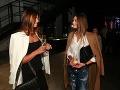Riaditeľka Miss Slovensko Karolína Chomisteková si počas večera poklebetila s modelkou Klementinou Tomrecaj.