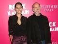 Bruce Willis s manželkou.