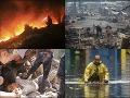 Počasie sa po celom svete muselo zblázniť: VIDEO Oheň, voda, vietor a ľadové gule ničia mestá