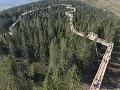 Chodník nad korunami stromov je novou atrakciou v Bachledovej doline