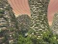 Projekt, ktorý má zachrániť Zem: Vertikálny les na Marse, takto by vyzeral Nový Šanghaj