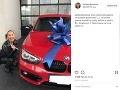 Lucia Mokráňová dostala od priateľa luxusné auto.