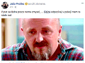 Jožo Pročko sa k smrti kamaráta vyjadril na Facebooku.