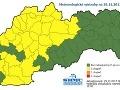 Výstrahy na Slovensku.