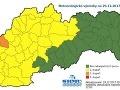 Ranné výstrahy na Slovensku.
