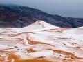 Príroda sa musela už zblázniť! VIDEO Snehová víchrica na Sahare, v púšti napadlo takmer pol metra