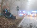 Kremnické Bane sú pre nehodu auta s kamiónom neprejazdné