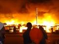 Obrovský požiar v slume na predmestí Nairobi: VIDEO Ohnivé peklo, 6000 ľudí bez domova