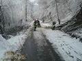 FOTO Popadané stromy, husté sneženie a desiatky výjazdov: Hasiči majú na východe pohotovosť