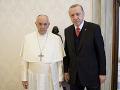 Erdogan sa stretol s pápežom: Venovali sa problematike Blízkeho východu