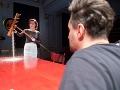 Gabriela Marcinková a Andrej Palko v novej inscenácii Znovuzjednotenie Kóreí v Štátnom divadle Košice