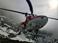 Žena v Nízkych Tatrách padala žľabom približne 350 metrov: Ratovali ju leteckí záchranári