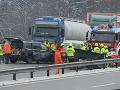 Vodič si chcel na nemeckej diaľnici očistiť sklo: FOTO Zrážka a ťažko zranený Čech (51)