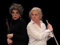 Herečky Zdena Studenková a Kamila Magálová v inscenácii s názvom Staré dámy.