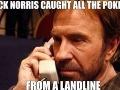 Chuck Norris chytil všetkých Pokémonov. Na pevnej linke.