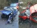 Čelná zrážka áut pri Brezne: Hororové FOTO z miesta nehody