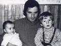 Miro Jaroš so sestrou a otcom.