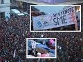 FOTOREPORTÁŽ Desaťtisíce ľudí opäť protestovali, rekordná účasť: Východ sa ukázal, my sme tu