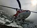 Záchranári v pohotovosti: Do Ždiaru letel na pomoc 12-ročnému lyžiarovi vrtuľník