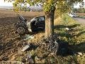Vážna nehoda na Záhorí: Mladíci skončili s autom v strome
