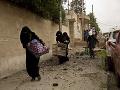 Iracké ženy utekajú na