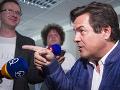 Na snímke podnikateľ Marián Kočner počas rozhovoru pre média po skončení súdneho pojednávania v spore týkajúcom sa zmeniek, ktorých vyplatenie žiada od exriaditeľa Markízy Pavla Ruska