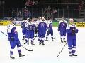 Slovenskí hokejisti po výhre nad Francúzskom
