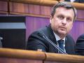 Predseda NR SR Andrej Danko počas rokovania pokračujúcej 31. schôdze Národnej rady SR.