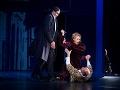 Zľava Michal Onufer ako Leporello, Tatiana Paľovčíková ako Donna Elvira a Marián Lukáč ako Don Giovanni  v novom naštudovaní opery Don Giovanni v Štátnom divadle Košice.