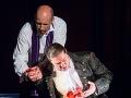 Zľava Marián Lukáč ako Don Giovanni a Michal Onufer ako Leporello v novom naštudovaní opery Don Giovanni v Štátnom divadle Košice.
