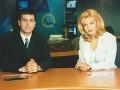 Aneta Parišková a Braňo Ondruš v Televíznych novinách