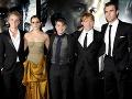 Tom Felton, Emma Watson, Daniel Radcliffe, Rupert Grint a Matthew Lewis