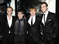Tom Felton, Daniel Radcliffe, Rupert Grint a Matthew Lewis