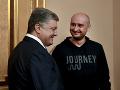 Petro Porošenko a Arkadij Babčenko