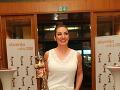 Katarína Hasprová bola z ocenenia nesmierne dojatá.