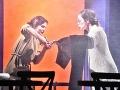 Zľava Katarína Horňáková a Tatiana Poláková v inscenácii Kamila Žišku Sára Salkházi, ktorú v slovenskej premiére uvádza Štátne divadlo Košice.