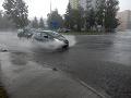 Zaplavené ulice v Ružomberku