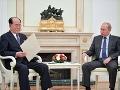 Ruský prezident V. Putin a predseda prezídia Najvyššieho ľudového zhromaždenia KĽDR Kim Jong-nam.